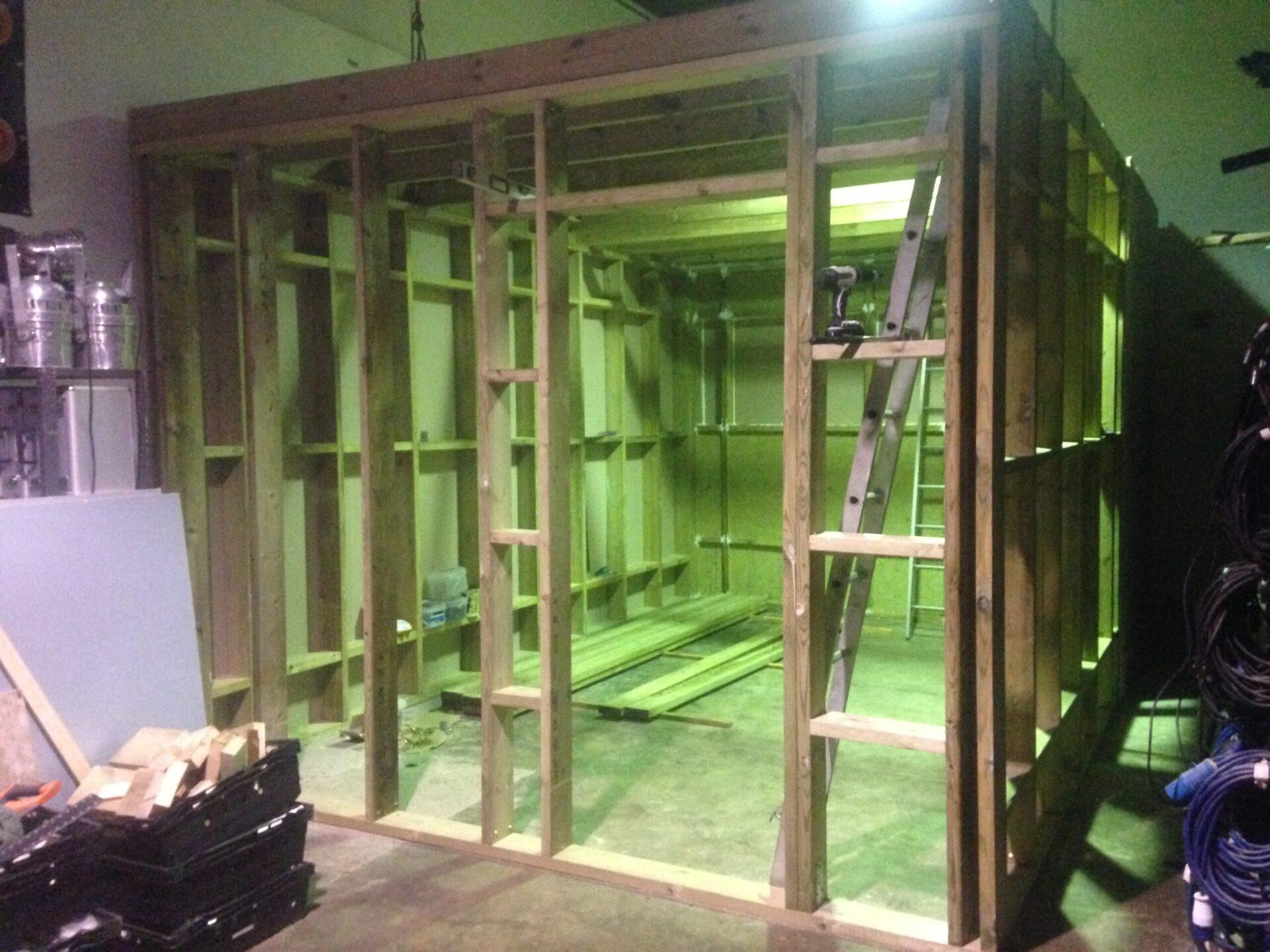 Recording studio build