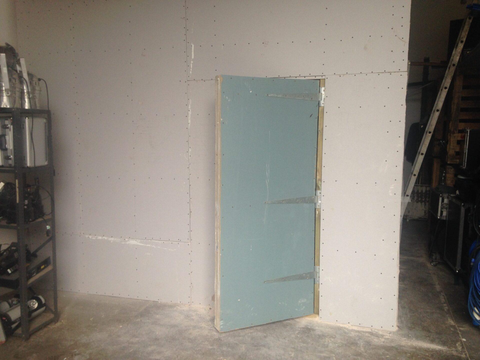 Heavy studio door